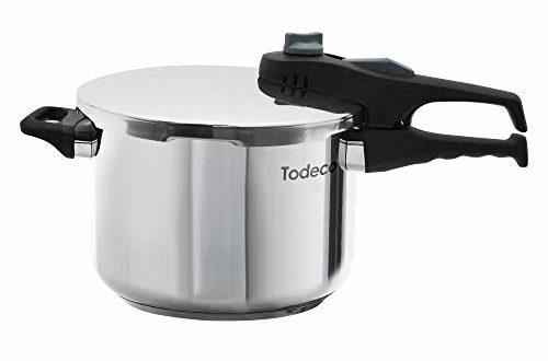 todeco schnellkochtopf drucktopf kapazitaet 6 l material griff aus bakelit 6 liter 500x330 - Todeco - Schnellkochtopf, Drucktopf - Kapazität: 6 L - Material: Griff aus Bakelit - 6 Liter