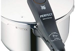 WMF Perfect Schnellkochtopf 25l Schnelltopf 18 cm Cromargan Edelstahl poliert 310x205 - WMF Perfect Schnellkochtopf 2,5l, Schnelltopf 18 cm, Cromargan Edelstahl poliert, Induktion, 2 Kochstufen, Einhand-Kochstufenregler